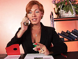 A hot day at the office. Horny Mia Isabella having a hot day at the office