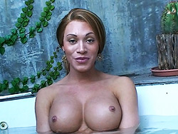 Mia and nicole montero. An interview with two naughty transsexuals in jacuzzi