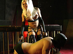 Mia isabella spankcage. Appealing TS Mia Isabella playing with her slave